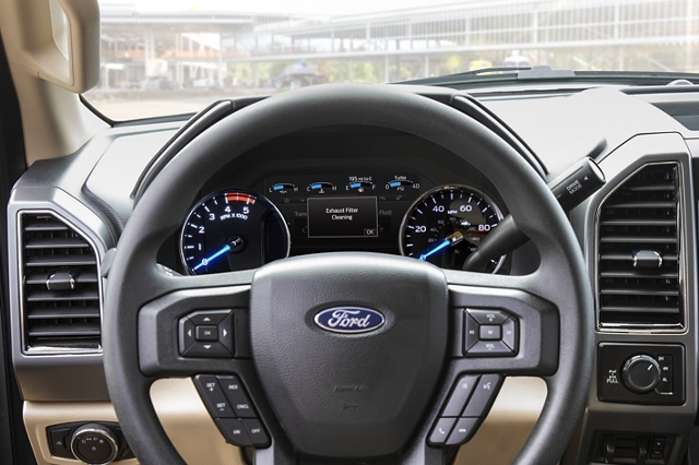 2020 Ford Super Duty steering wheel and control center