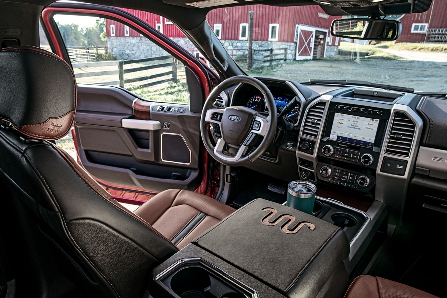 King Ranch interior with Kingsville Antique Affect leather seats
