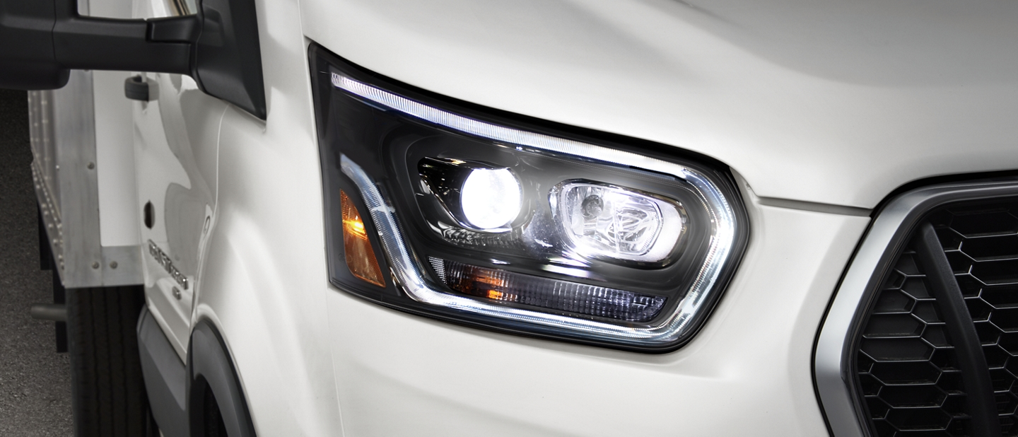 Close up shot of a Headlamp