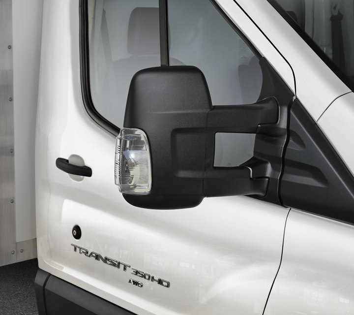 2020 Ford Transit with Short Arm Mirrors