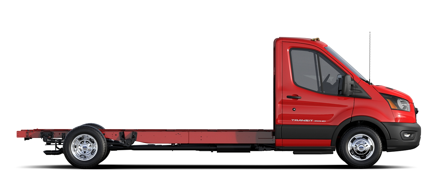 2020 Ford Transit Chassis Cab on a White Background