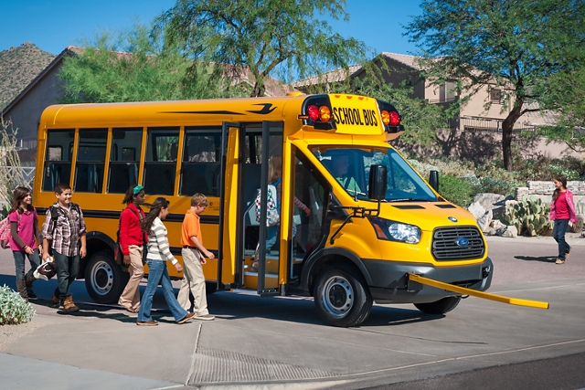 2020 Ford Transit with school bus body