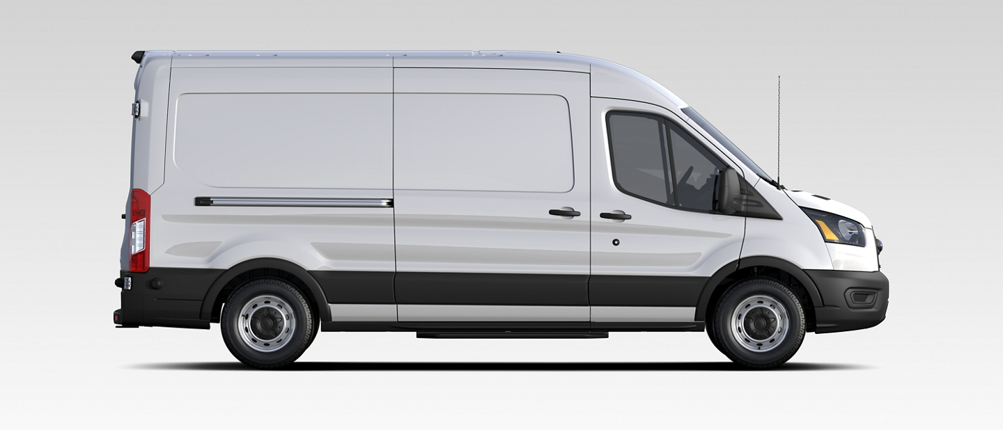 The 2020 Ford Transit in Oxford White