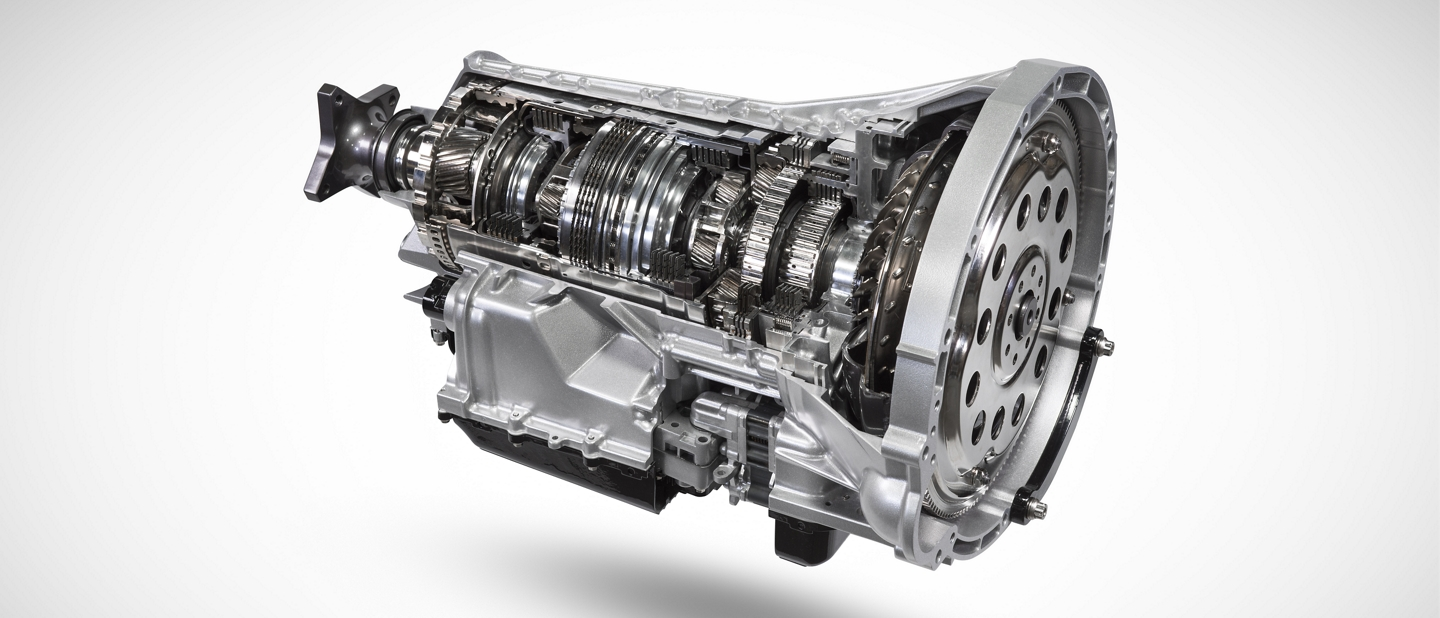 Shot of ten speed automatic transmission