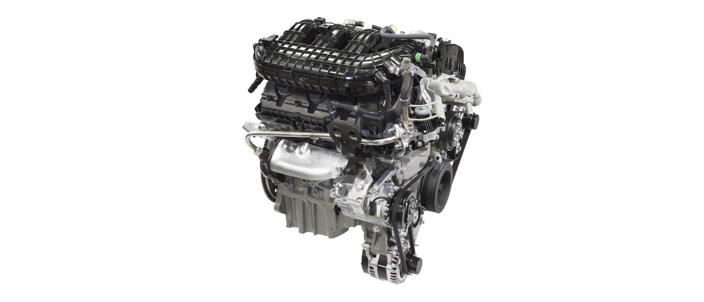 A three point five liter P F D I V 6 engine