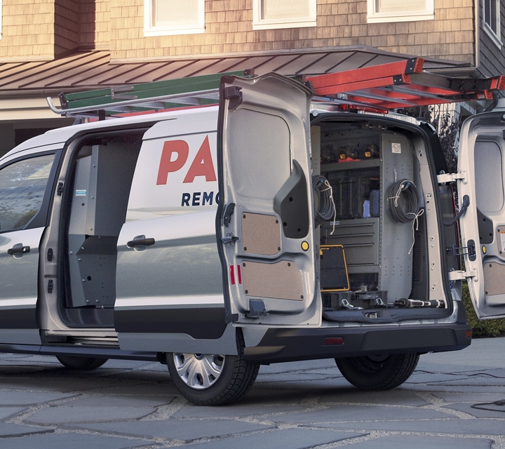 2020 Ford Transit Connect Cargo Van on the job with a small business