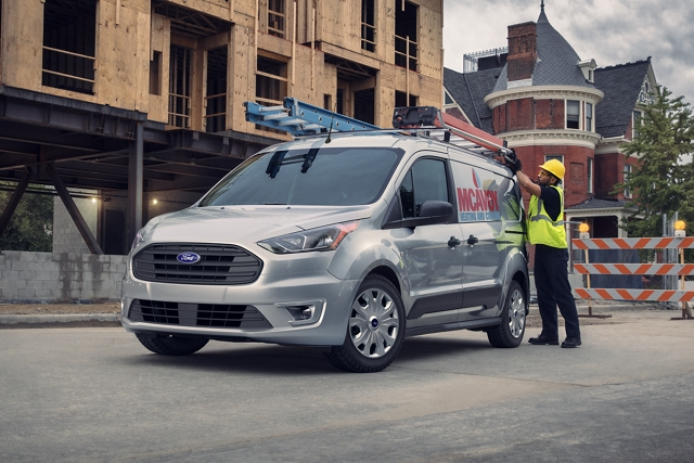 2020 Ford Transit Connect Cargo Van shown on the job