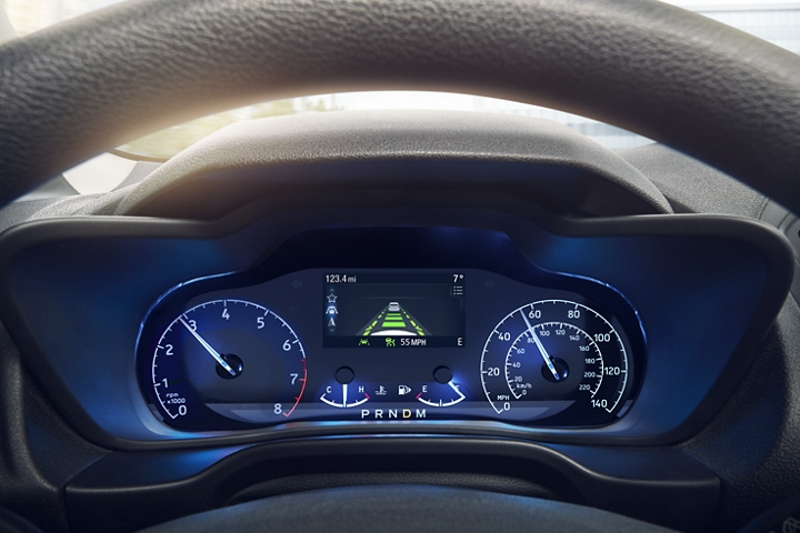 Available adaptive cruise control can help keep you confident on the road