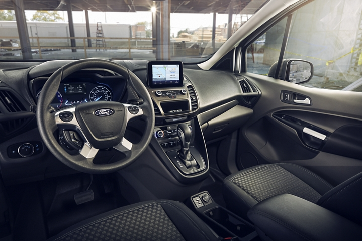 Ergonomic interior of 2020 Ford Transit Connect Cargo Van