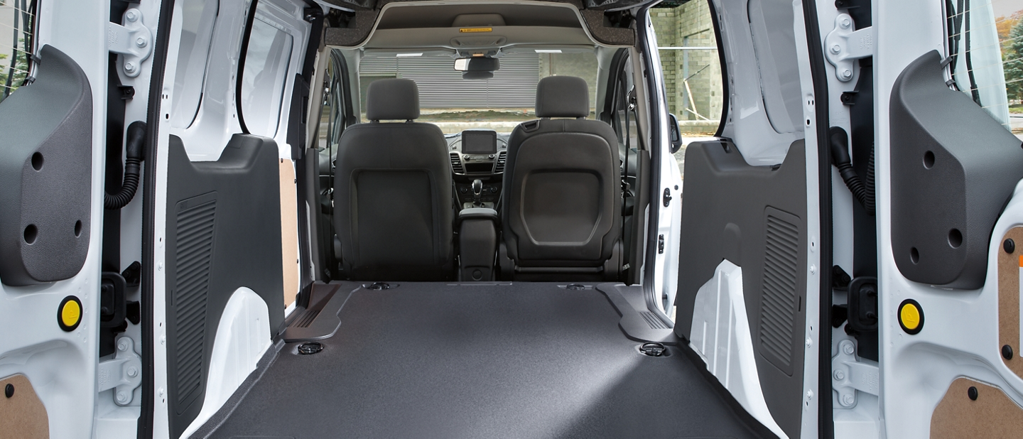 Interior of transit connect cargo van cargo area