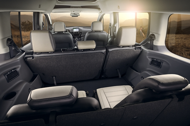 2020 Ford Transit Connect Passenger Wagon interior with flexible seating and cargo space