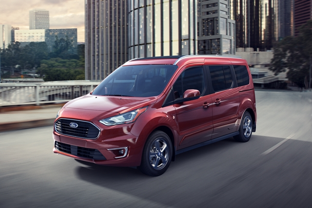 2020 Ford Transit Connect Passenger Wagon on the road during daytime with Ecomode and Ecocoach