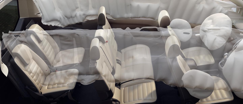 Una representación del SistemaSafety Canopydel Wagon para Pasajeros FordTransitConnect2020