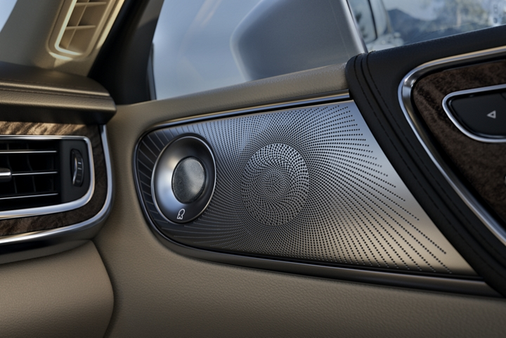 Silver mesh speaker covers and matching tweeter color make the in door speaker assembly rather appealing
