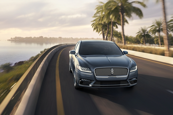 A 2020 Lincoln Continental is shown being driven at a pace where dynamic torque vectoring would make for an even more satisfying drive