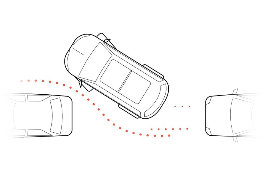 An illustration shows a vehicle in the process of being parallel parked between two other vehicles