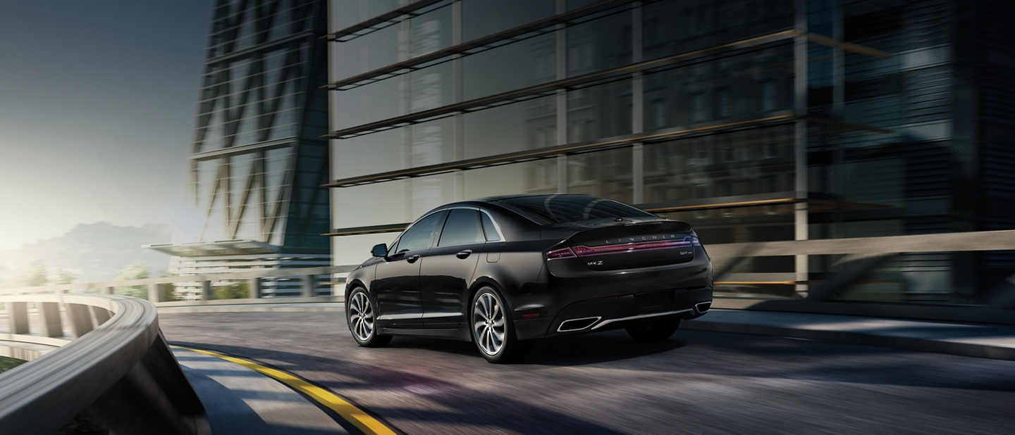 The 2020 Lincoln M K Z elegantly navigates through a tight turn