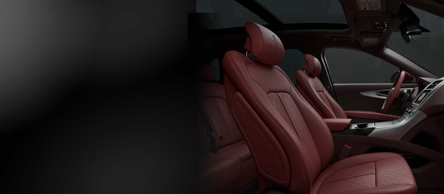 Interior view of 2019 Lincoln Black Label Nautilus