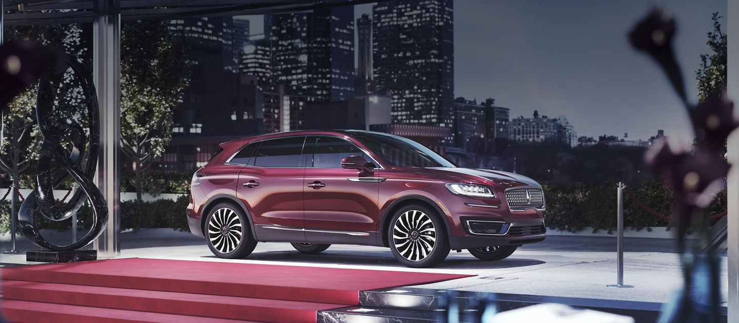 The 2020 Lincoln Black Label Nautilus is shown in the Gala theme