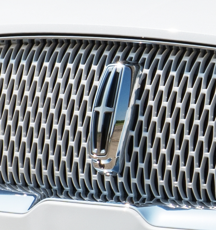 Unique Body-Colored Mesh Grille with Chrome Surround.